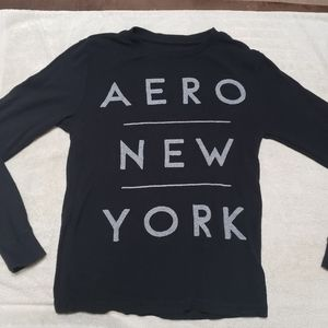 Aeropostale Long Sleeve Printed Thermal Tee